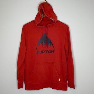 Burton burnt red graphic logo kangaroo hoodie S